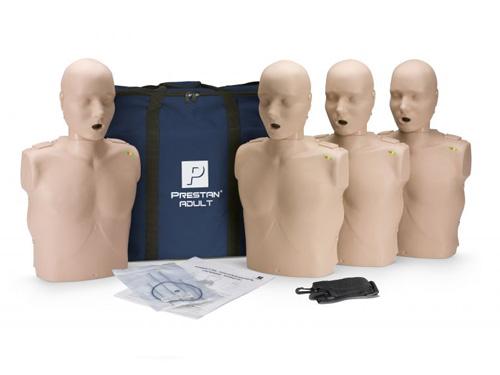 Prestan Professional Adult  CPR Training Manikins Medium Skin 4-Pack