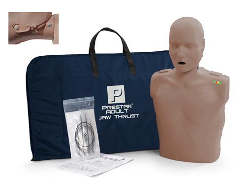 Prestan Professional Adult Jaw Thrust  CPR-AED Training Manikin Dark Skin