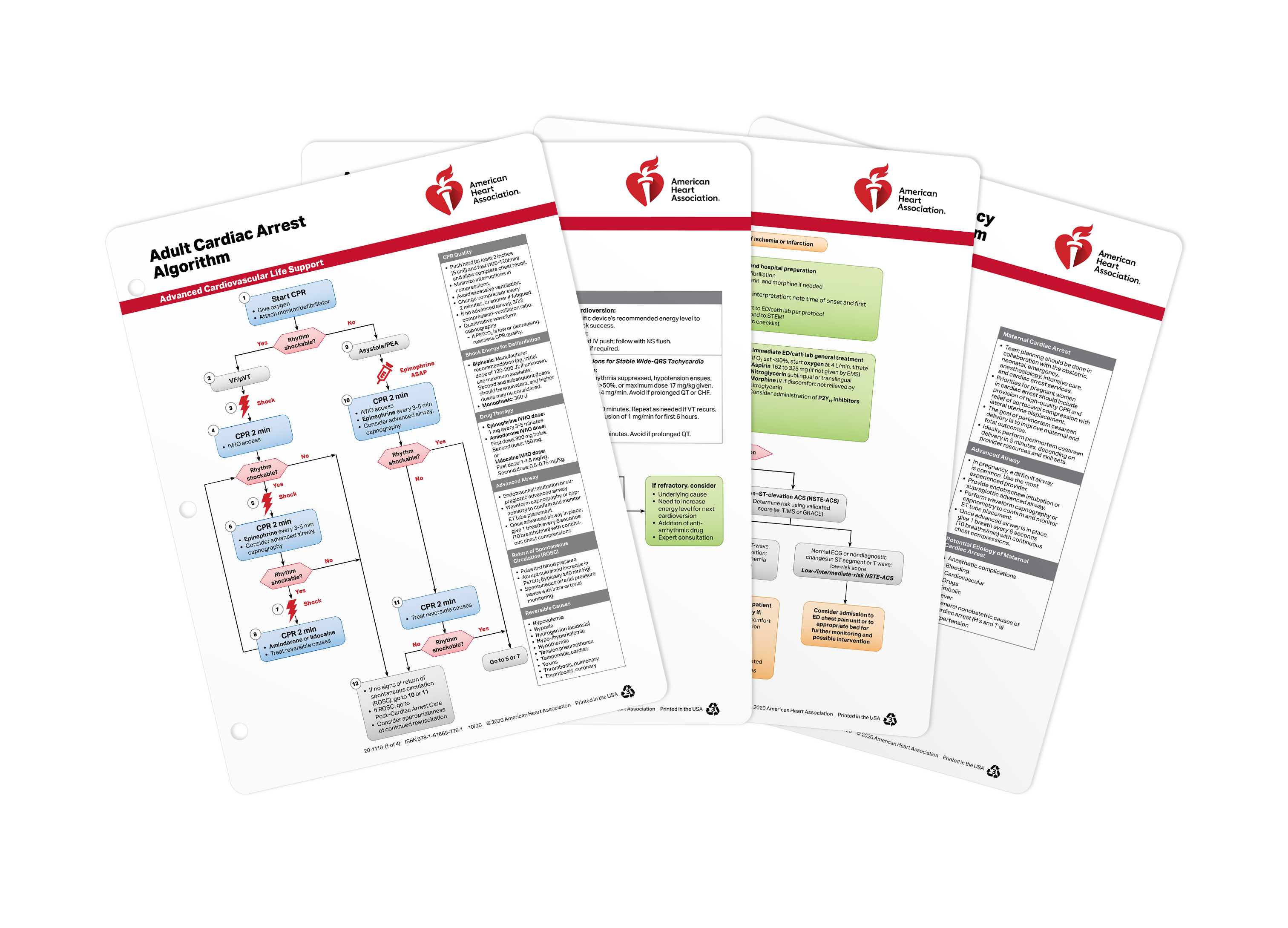 20-1110 ACLS Emergency Crash Cart Cards