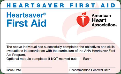 20-2832 IVE Heartsaver® First Aid eCard