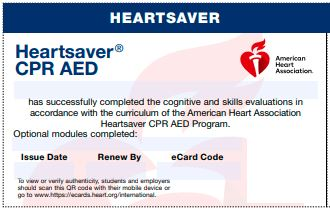 20-2833 IVE Heartsaver® CPR AED eCard