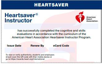 20-2822 IVE IVE Heartsaver® Instructor eCard